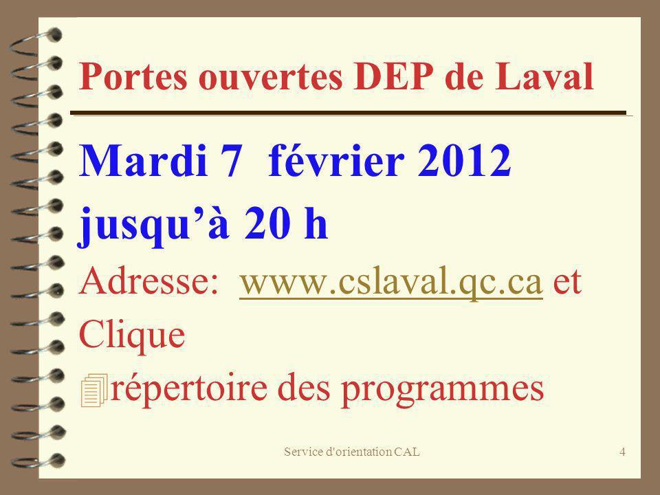 Portes ouvertes DEP de Laval