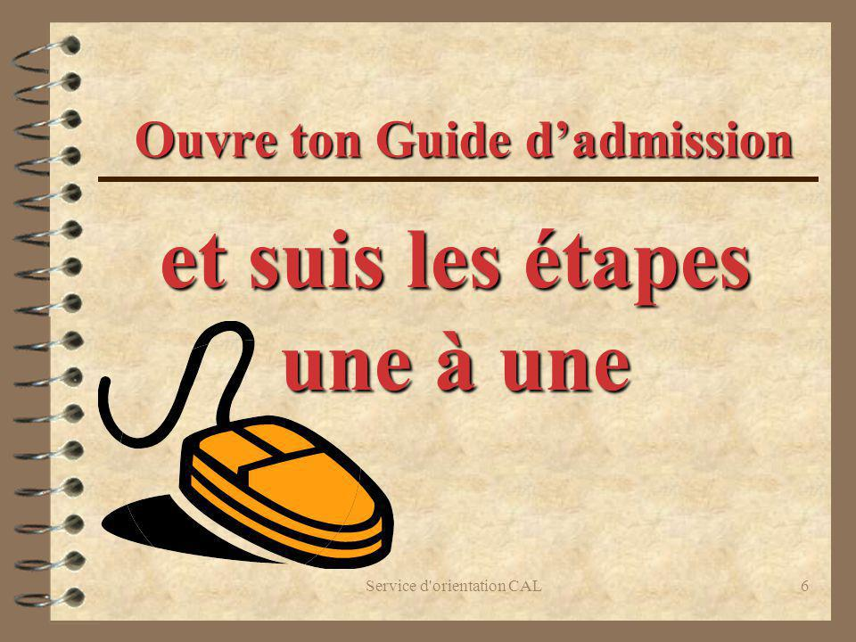 Ouvre ton Guide d'admission