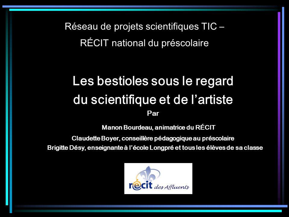 Réseau de projets scientifiques TIC – RÉCIT national du préscolaire