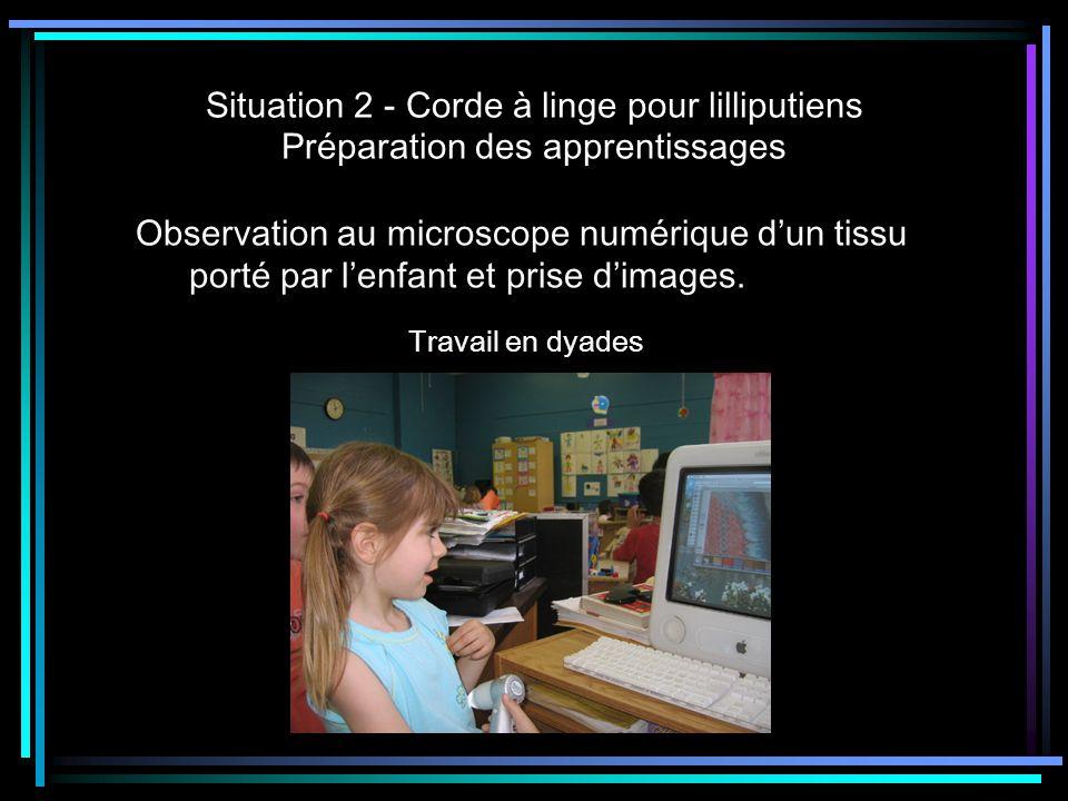 Situation 2 - Corde à linge pour lilliputiens Préparation des apprentissages