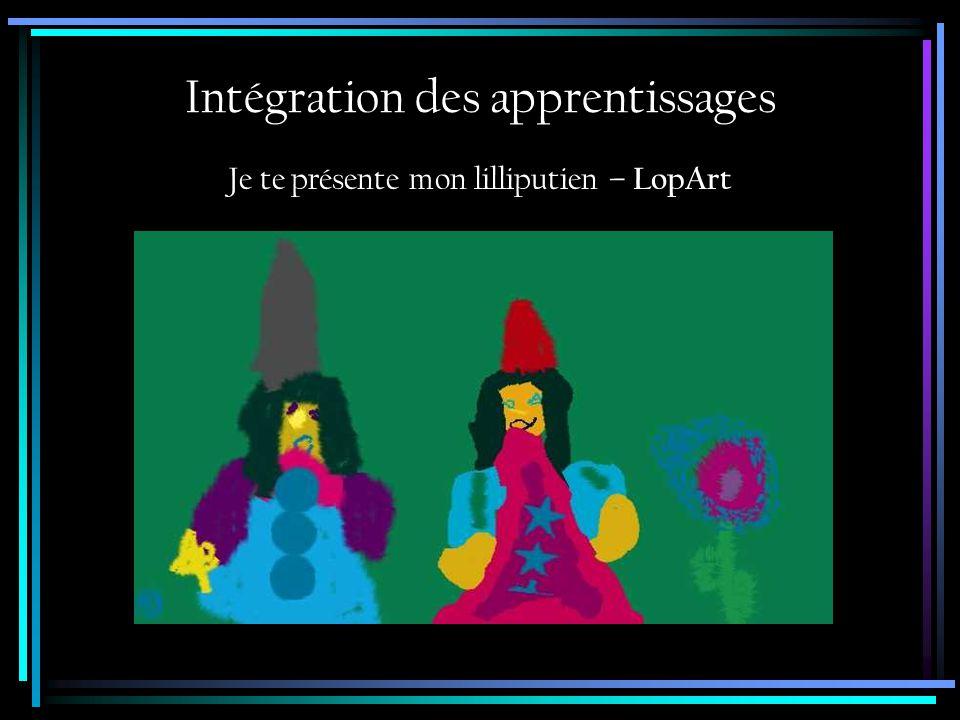 Intégration des apprentissages