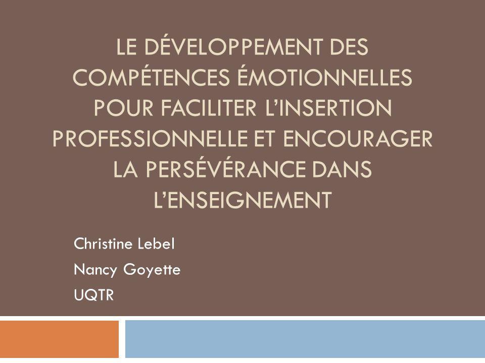 Christine Lebel Nancy Goyette UQTR