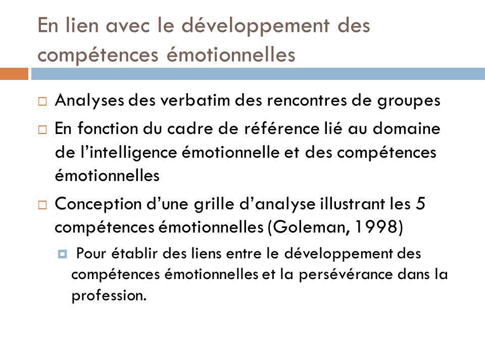 En lien avec le développement des compétences émotionnelles