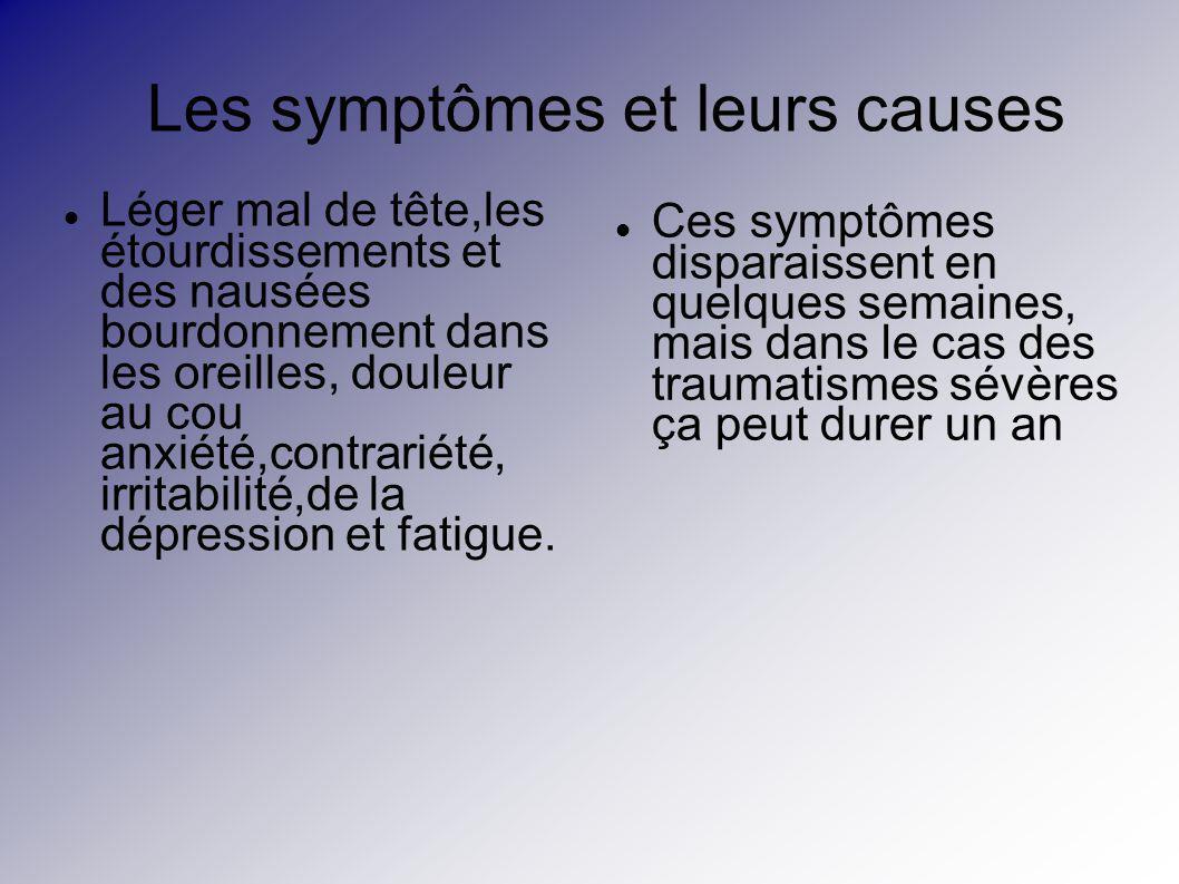 Les symptômes et leurs causes