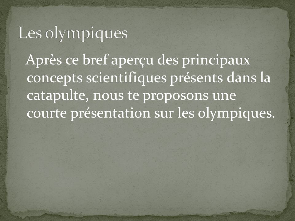 Les olympiques