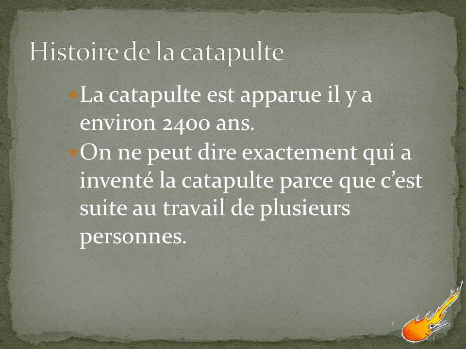 Histoire de la catapulte