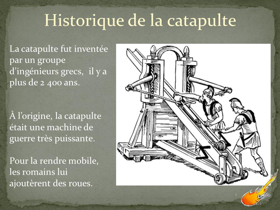 Historique de la catapulte
