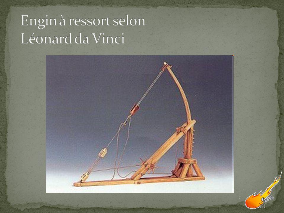 Engin à ressort selon Léonard da Vinci