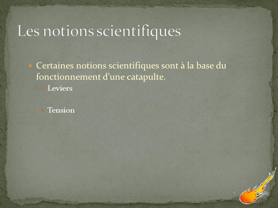 Les notions scientifiques