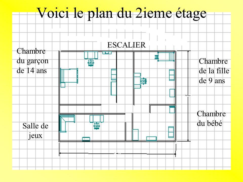 Voici le plan du 2ieme étage