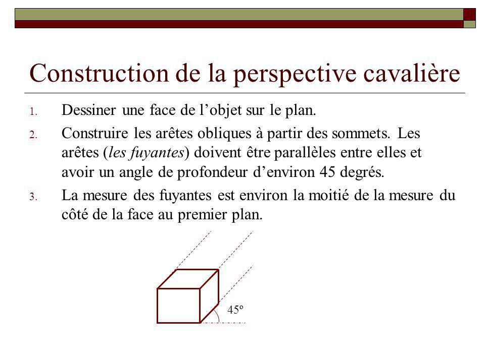 Les projections parall les et centrales ppt video online t l charger - Comment couper un angle a 45 degres ...