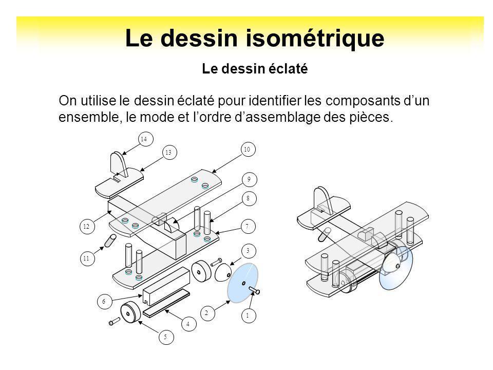Le dessin isométrique Le dessin éclaté