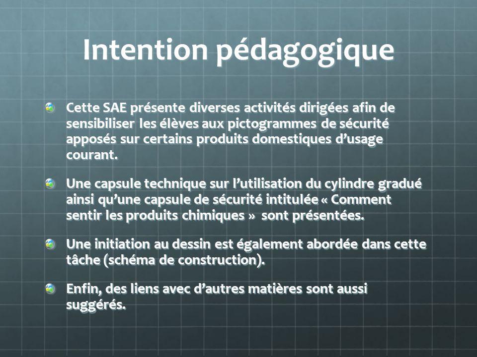 Intention pédagogique