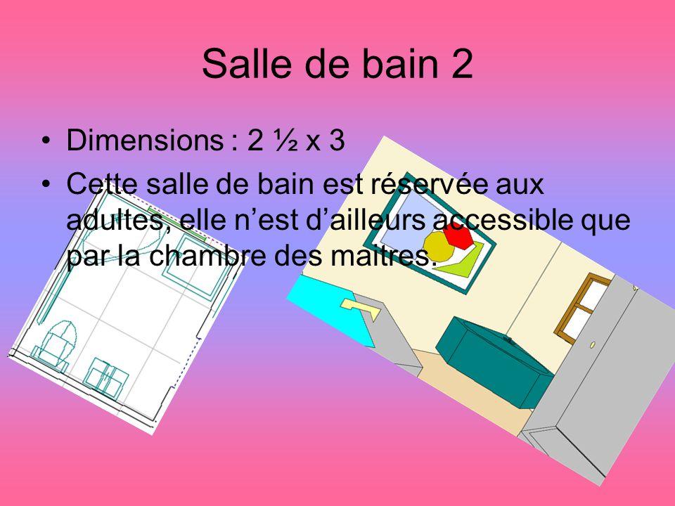 Salle de bain 2 Dimensions : 2 ½ x 3