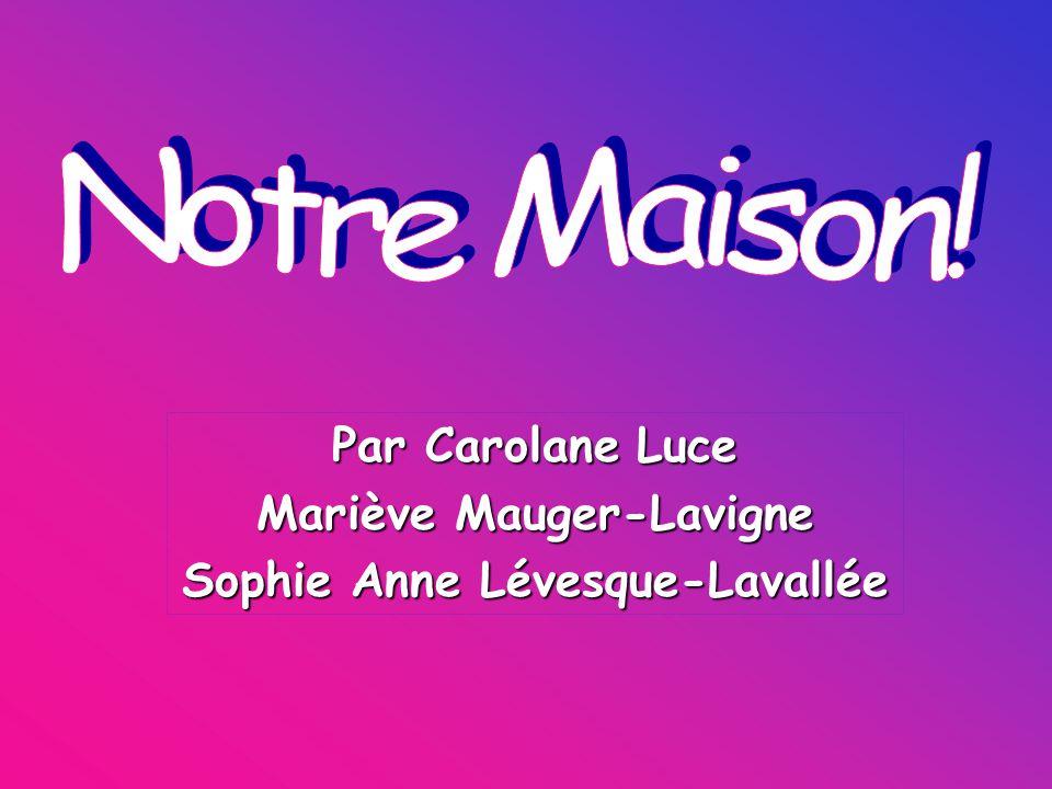 Par Carolane Luce Mariève Mauger-Lavigne Sophie Anne Lévesque-Lavallée