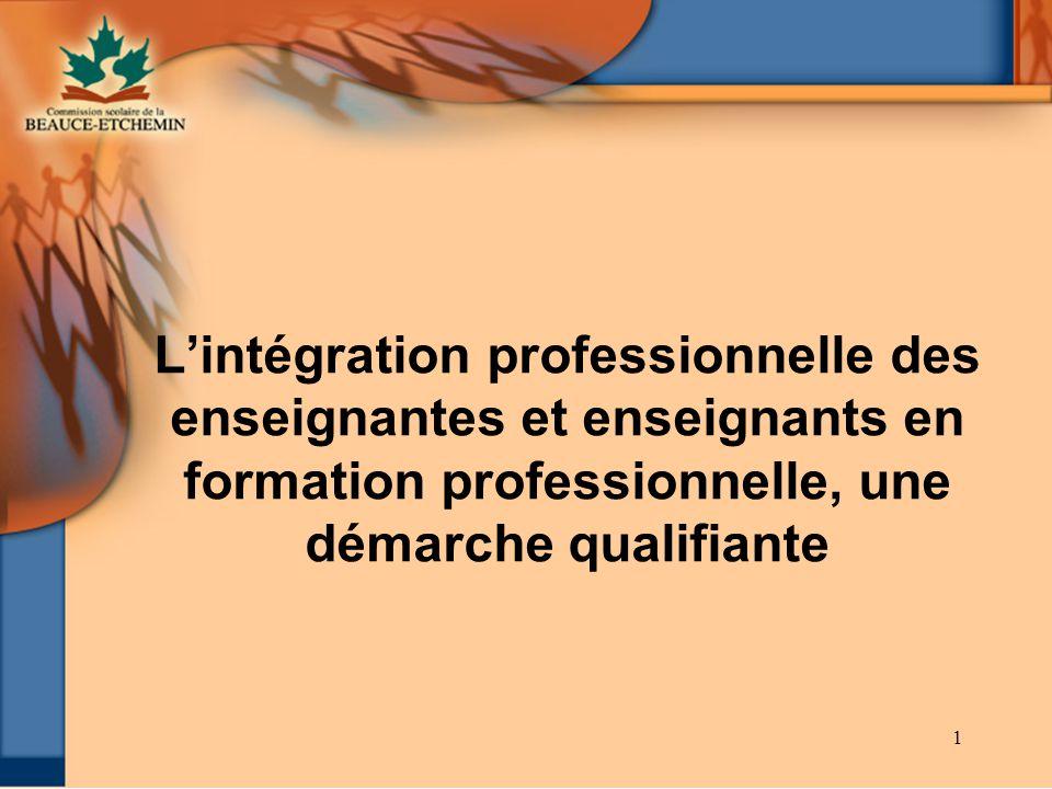 L'intégration professionnelle des enseignantes et enseignants en formation professionnelle, une démarche qualifiante