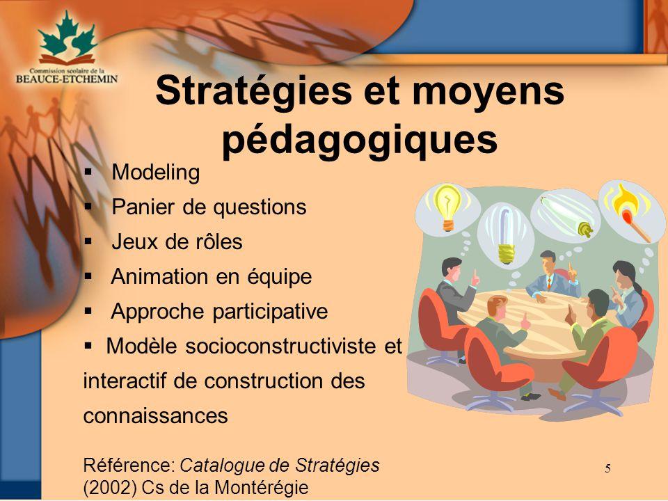 Stratégies et moyens pédagogiques