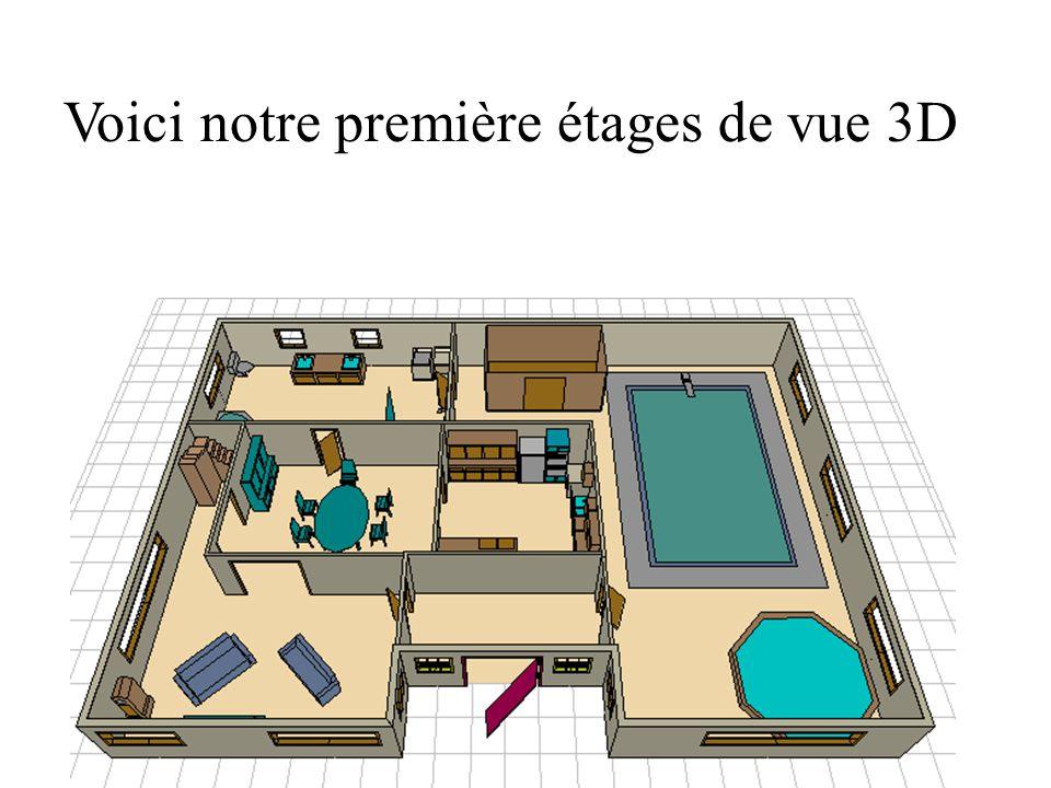 Voici notre première étages de vue 3D