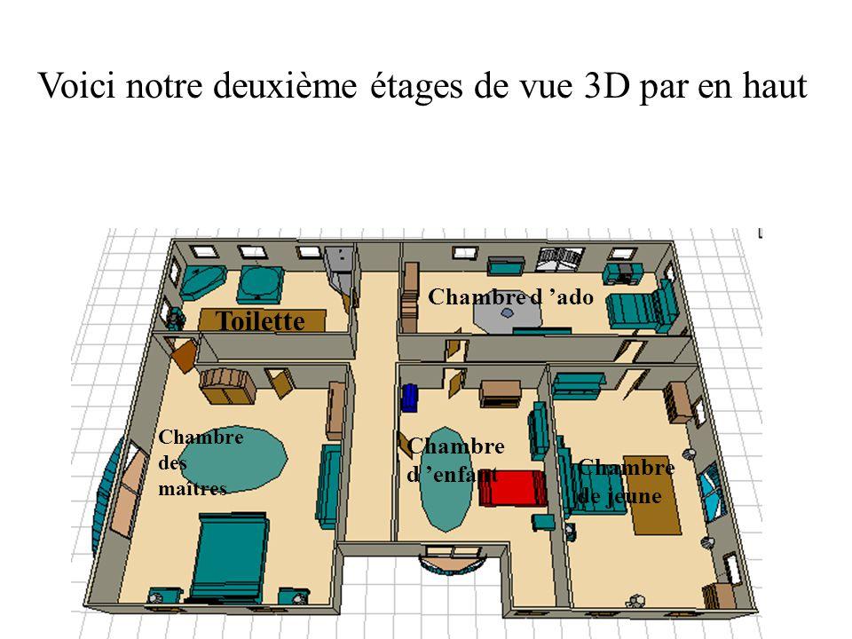 Voici notre deuxième étages de vue 3D par en haut