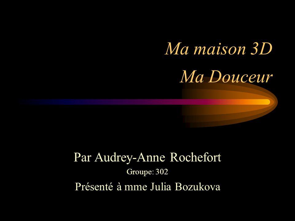 Par Audrey-Anne Rochefort Groupe: 302 Présenté à mme Julia Bozukova