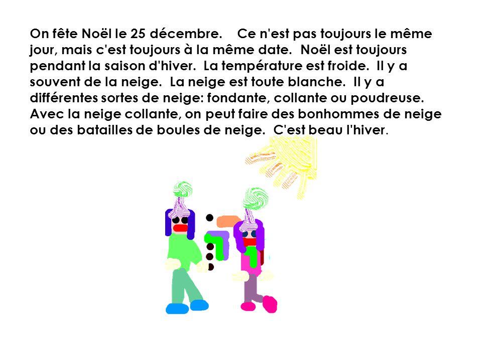 On fête Noël le 25 décembre