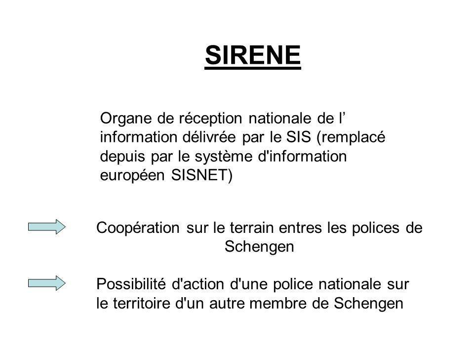 Coopération sur le terrain entres les polices de Schengen