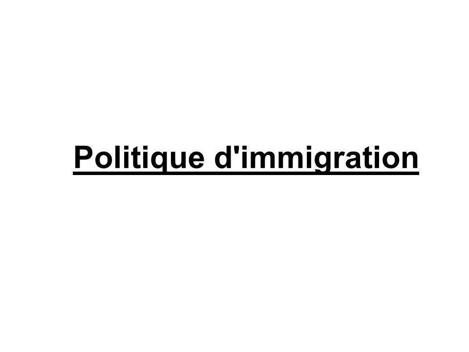 Politique d immigration