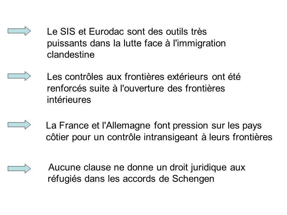 Le SIS et Eurodac sont des outils très puissants dans la lutte face à l immigration clandestine