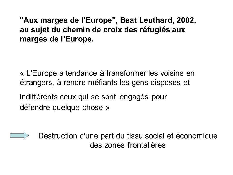 Aux marges de l Europe , Beat Leuthard, 2002, au sujet du chemin de croix des réfugiés aux marges de l Europe.