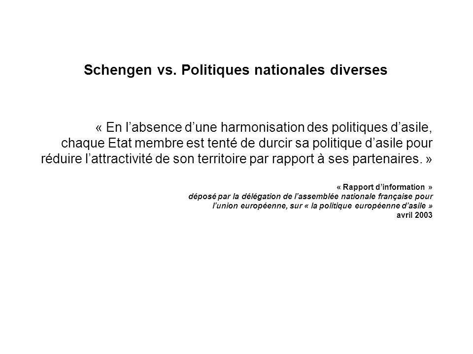 Schengen vs. Politiques nationales diverses