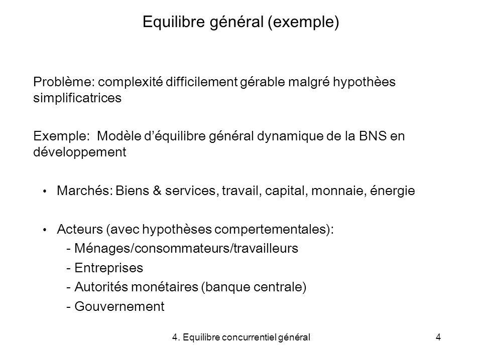 Equilibre général (exemple)