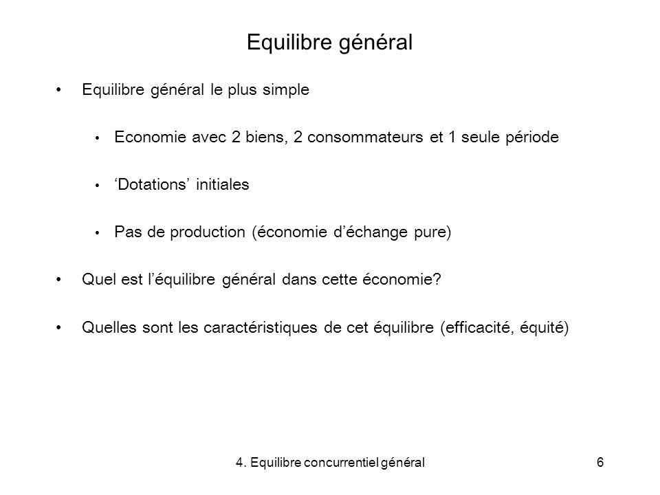 4. Equilibre concurrentiel général