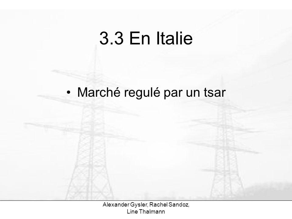 3.3 En Italie Marché regulé par un tsar