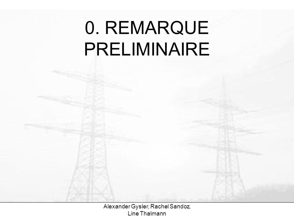 0. REMARQUE PRELIMINAIRE