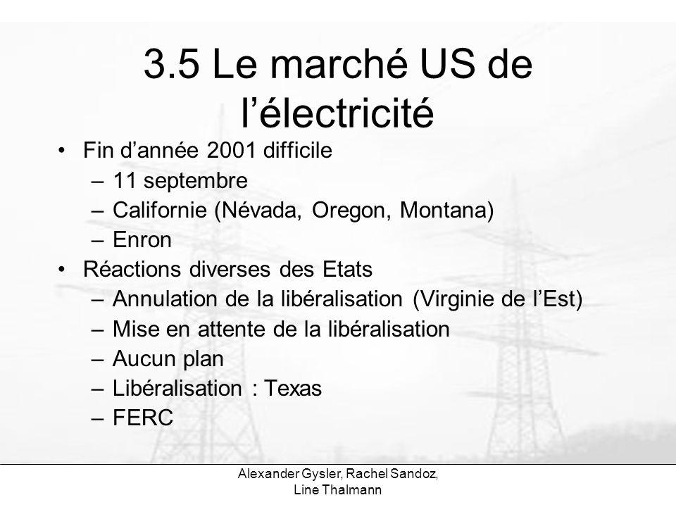 3.5 Le marché US de l'électricité