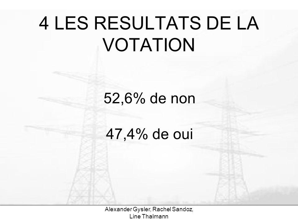 4 LES RESULTATS DE LA VOTATION