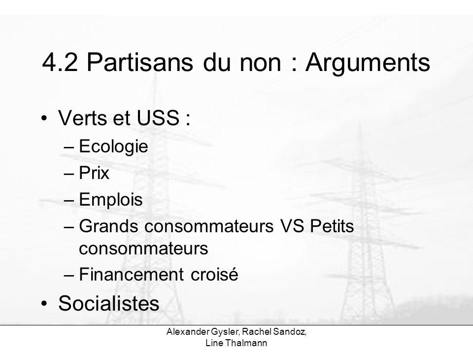 4.2 Partisans du non : Arguments