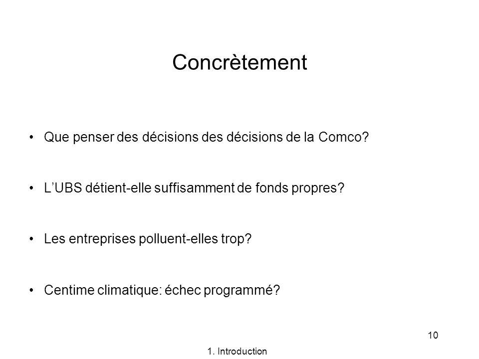 Concrètement Que penser des décisions des décisions de la Comco