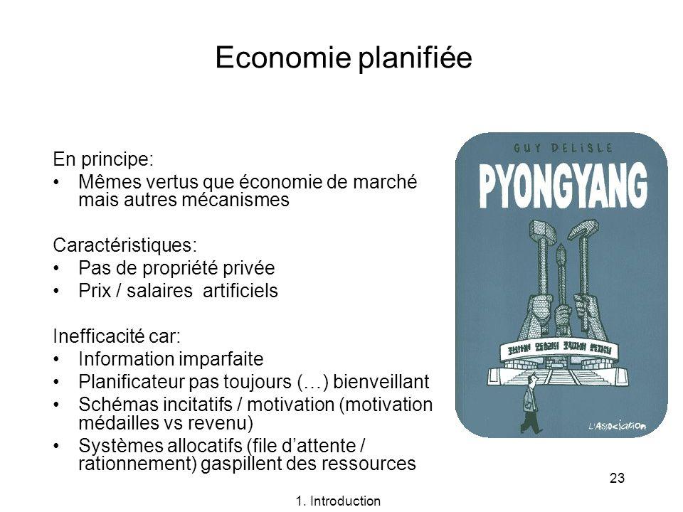 Economie planifiée En principe: