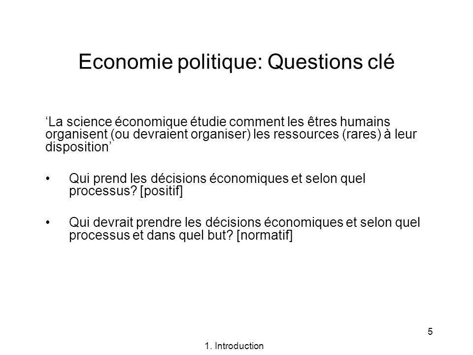 Economie politique: Questions clé