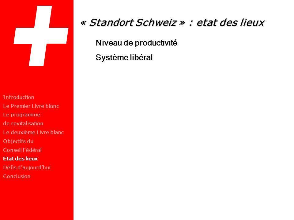« Standort Schweiz » : etat des lieux