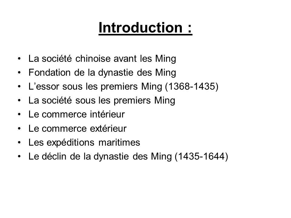 Introduction : La société chinoise avant les Ming