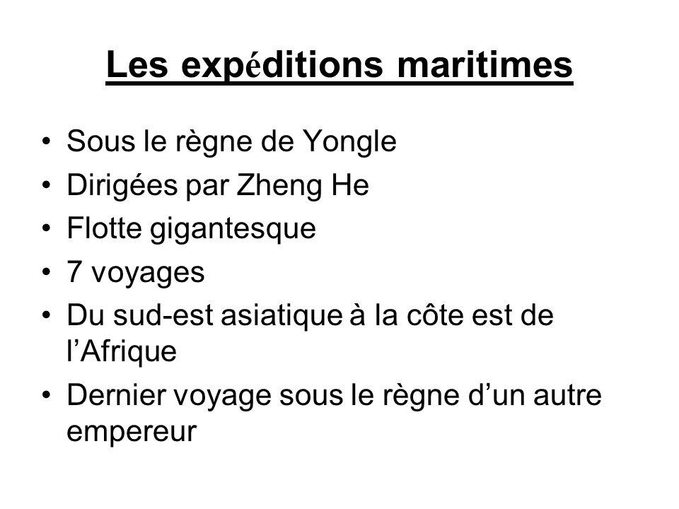 Les expéditions maritimes