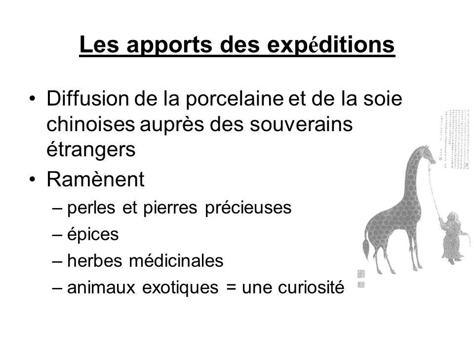 Les apports des expéditions