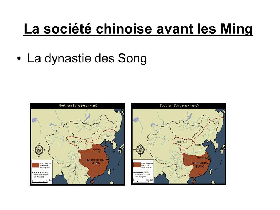 La société chinoise avant les Ming