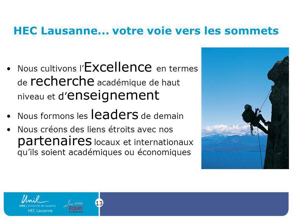 HEC Lausanne... votre voie vers les sommets
