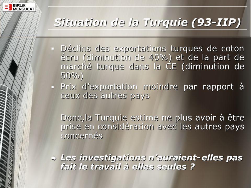 Situation de la Turquie (93-IIP)