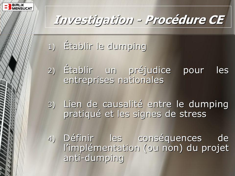 Investigation - Procédure CE