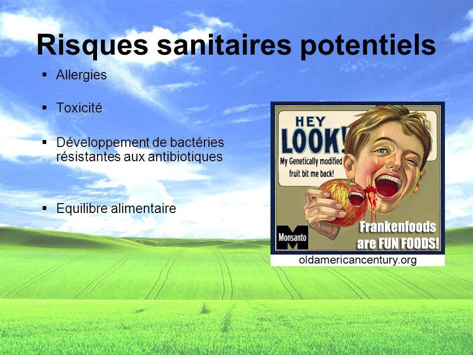 Risques sanitaires potentiels