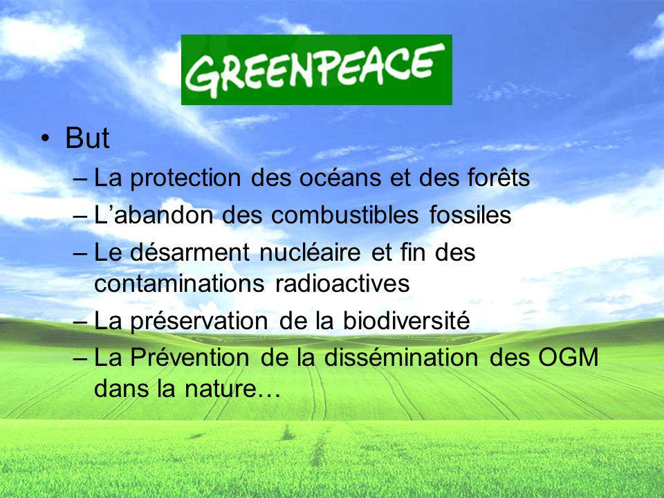 But La protection des océans et des forêts